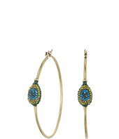 Lucky Brand - Peacock Hoop Earrings