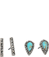 Lucky Brand - Turquoise Bar Stud Earrings Set