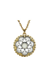 Lucky Brand - Floral Pave Pendant Necklace