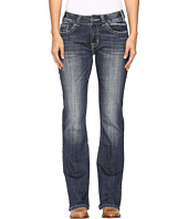Rock and Roll Cowgirl - Mid-Rise Bootcut Jeans in Dark Vintage W1-9619