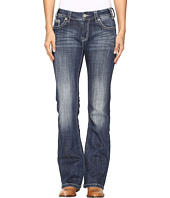 Rock and Roll Cowgirl - Mid-Rise Bootcut Jeans in Dark Vintage W1-9618