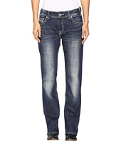 Rock and Roll Cowgirl - Boyfriend Bootcut Jeans in Dark Vintage W2-9624
