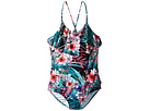 Seafolly Kids Tropical Vacation Ruffle Tank One-Piece (Little Kids/Big Kids)