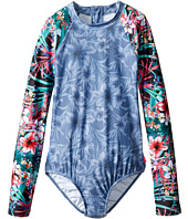 Seafolly Kids - Tropical Vacation Long Sleeve Surf Tank One-Piece (Little Kids/Big Kids)