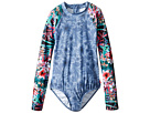 Seafolly Kids Tropical Vacation Long Sleeve Surf Tank One-Piece (Little Kids/Big Kids)