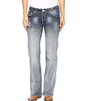 Rock and Roll Cowgirl - Riding Bootcut Jeans in Medium Vintage W7-9628