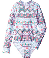 Seafolly Kids - Festival Surf Long Sleeve Tank One-Piece (Little Kids/Big Kids)