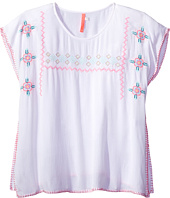 Seafolly Kids - Festival Surf Embroidered Kaftan Cover-Up (Little Kids/Big Kids)