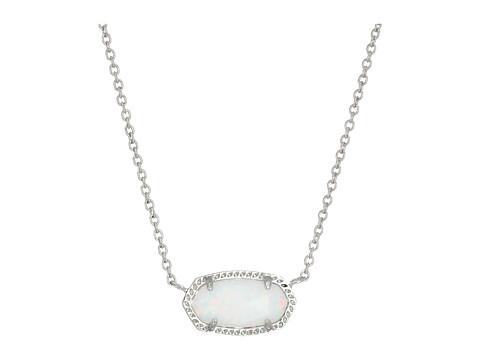 Kendra Scott Elisa Necklace - Rhodium/White Kyocera Opal