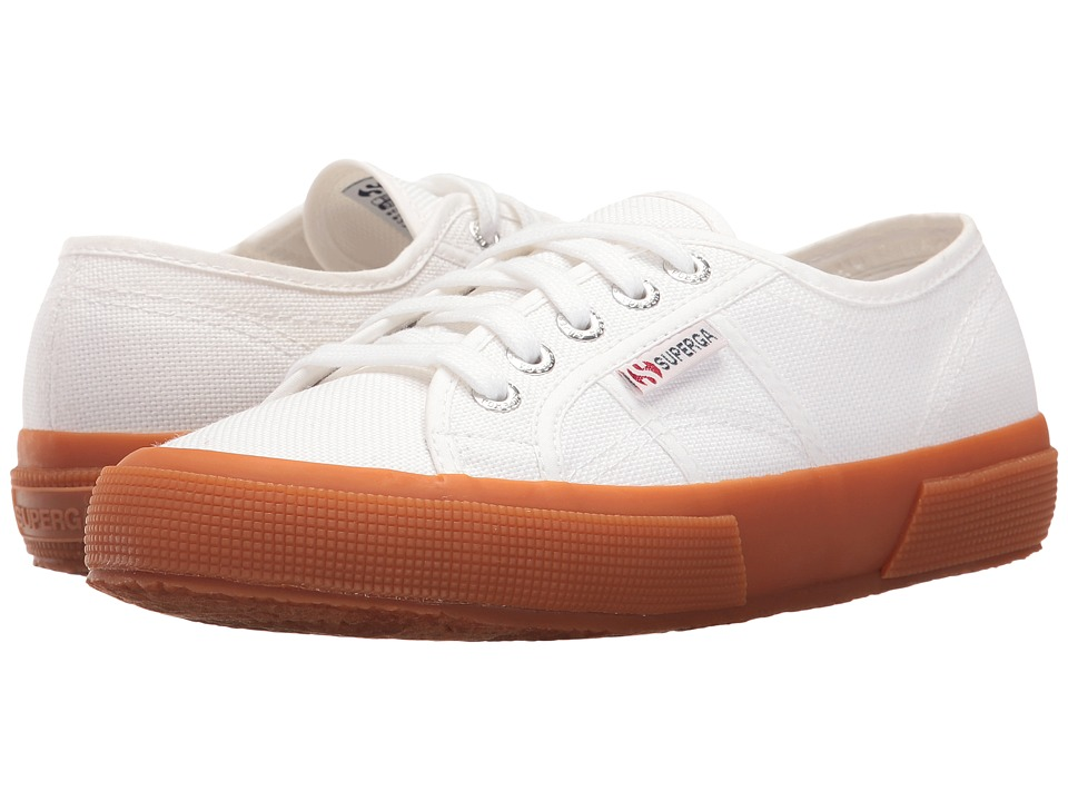 Superga 2750 COTU Classic (White/Gum Foxing) Lace up casual Shoes