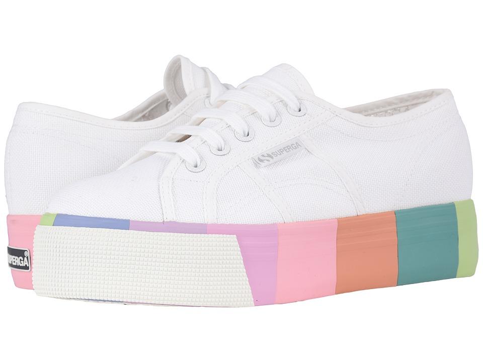 Superga - 2790 Cotmultifoxing W Platform Sneaker (White Canvas) Womens Shoes
