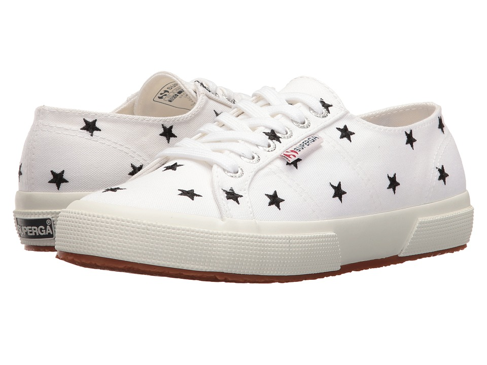 Superga 2750 Embcotw (White/Black Stars) Women
