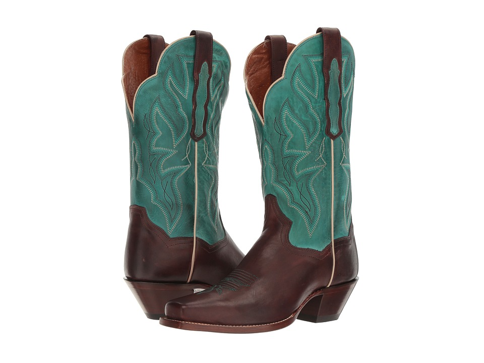 Dan Post Darby (Chocolate/Turquoise) Cowboy Boots