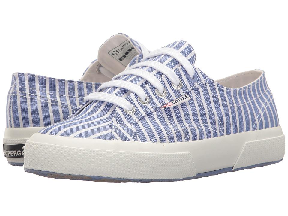Superga 2750 Fabricshirt M (Stripes Light Blue/White) Men