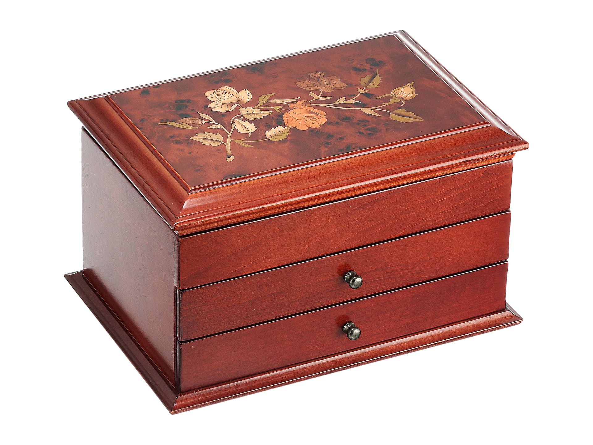 mele brayden wooden jewelry box in walnut finish zappos
