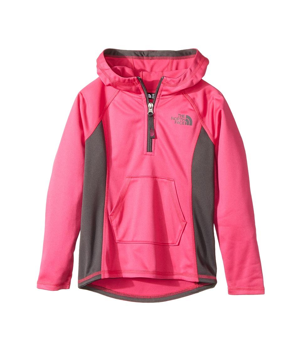 The North Face Kids Tech Glacier 1/4 Zip (Little Kids/Big Kids) (Petticoat Pink/Graphite Grey) Girl