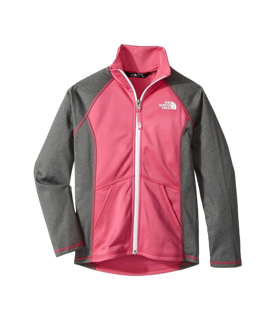 The North Face Kids Tech Glacier Full Zip (Little Kids/Big Kids) (Petticoat Pink/TNF Medium Grey Heather) Girl