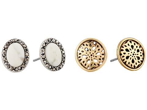 Lucky Brand Stud Earrings Set - Two-Tone