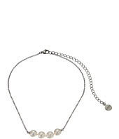 Majorica - 8mm White Pearls Steel Choker Necklace