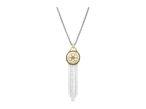 Lucky Brand Sugarplum Fringe Pendant Necklace - Two-Tone