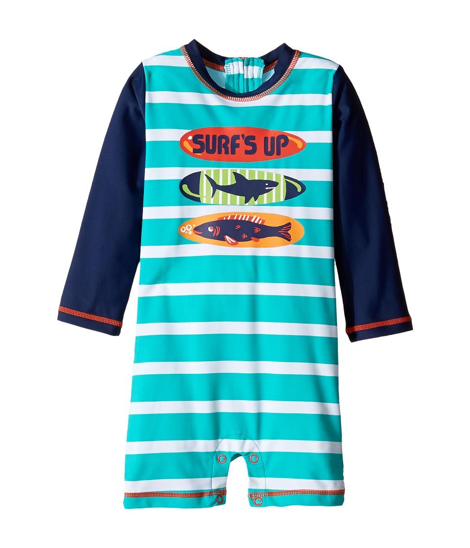 Hatley Kids Surfboards Rashguard (Infant) (Blue) Boy