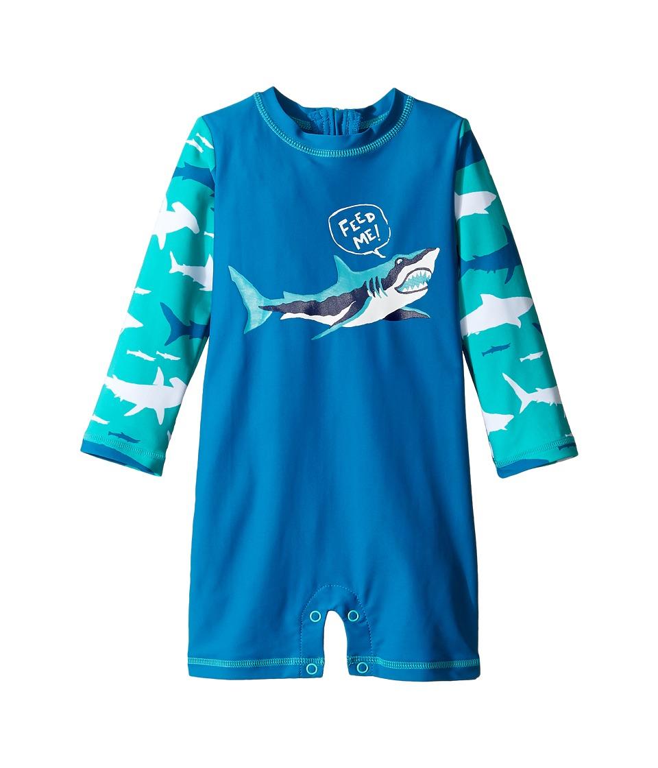 Hatley Kids Toothy Shark Rashguard (Infant) (Blue) Boy