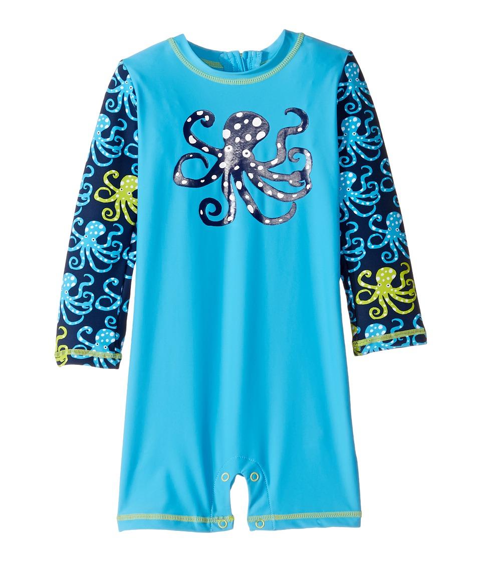 Hatley Kids Deep Sea Octopus Rashguard (Infant) (Blue) Boy