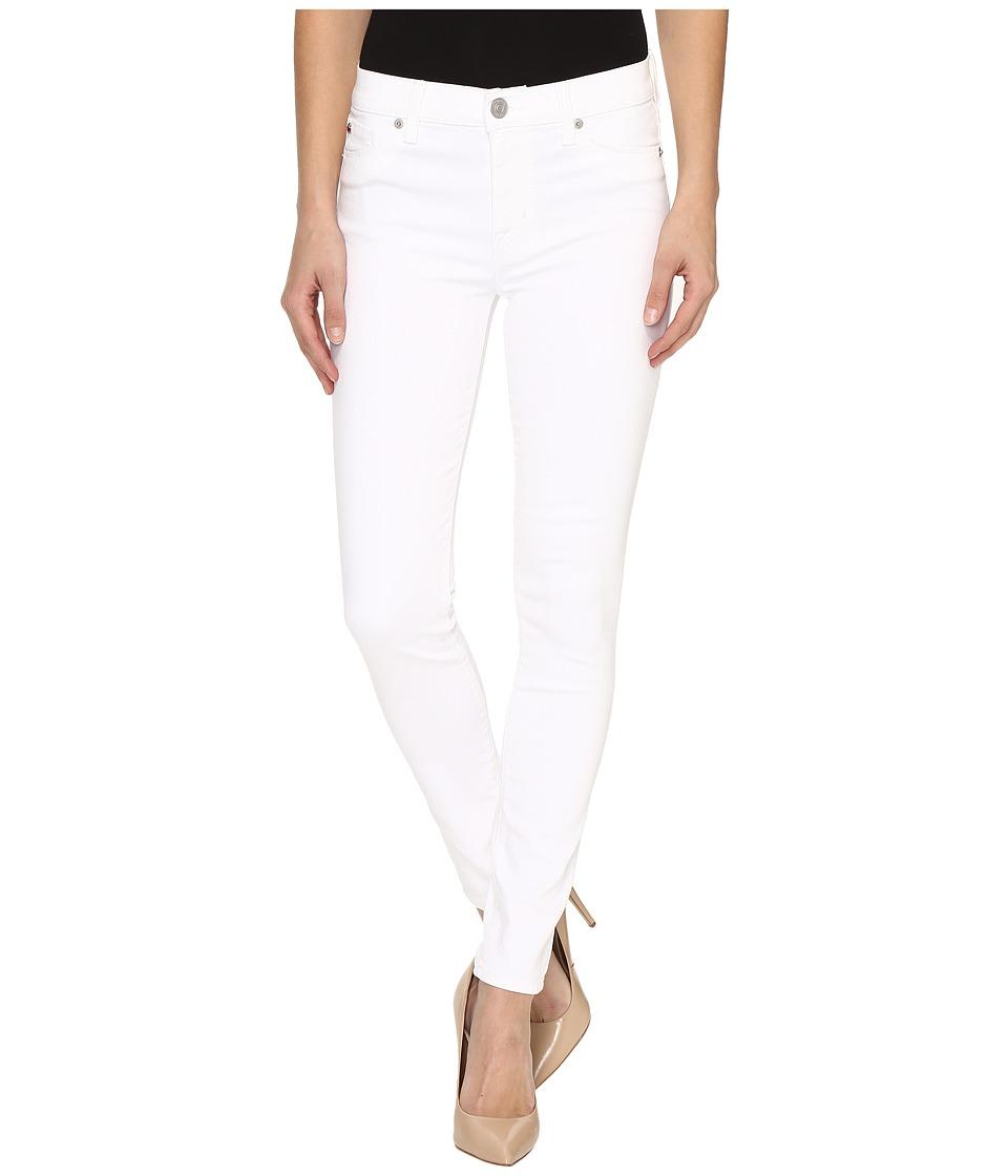 Hudson Nico Mid-Rise Ankle Super Skinny in White (White) Women