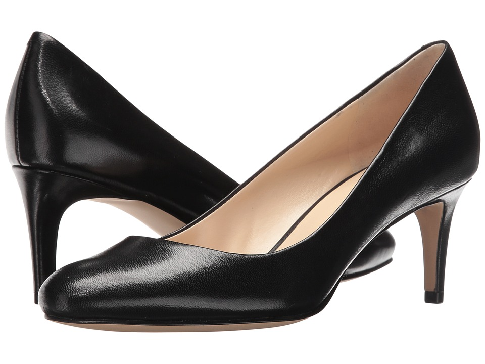 Nine West Cassidy (Black Leather) High Heels