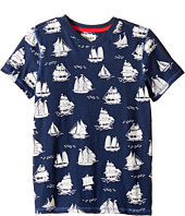 Hatley Kids - Patterned Sail Boats Graphic Tee (Toddler/Little Kids/Big Kids)