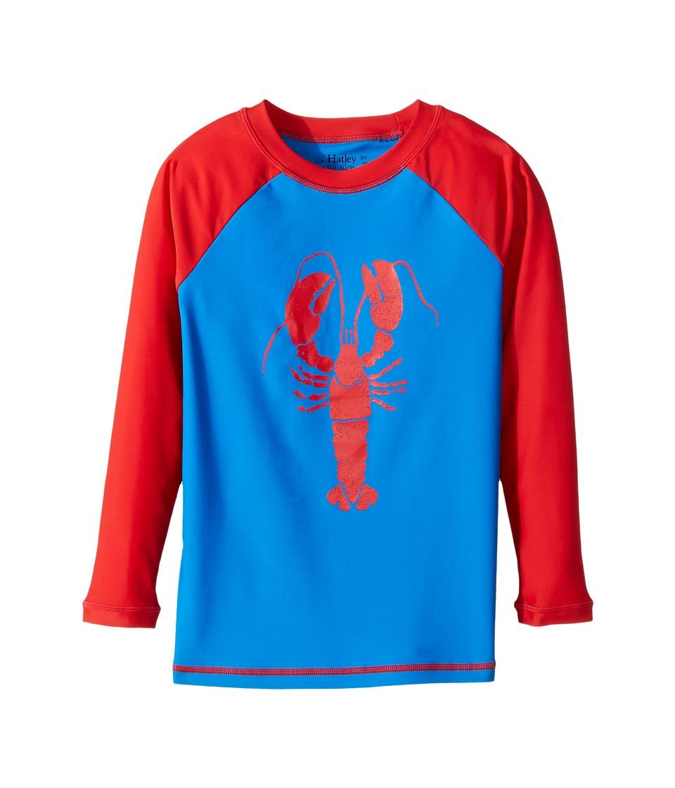 Hatley Kids Lobster Rashguard (Toddler/Little Kids/Big Kids) (Blue) Boy
