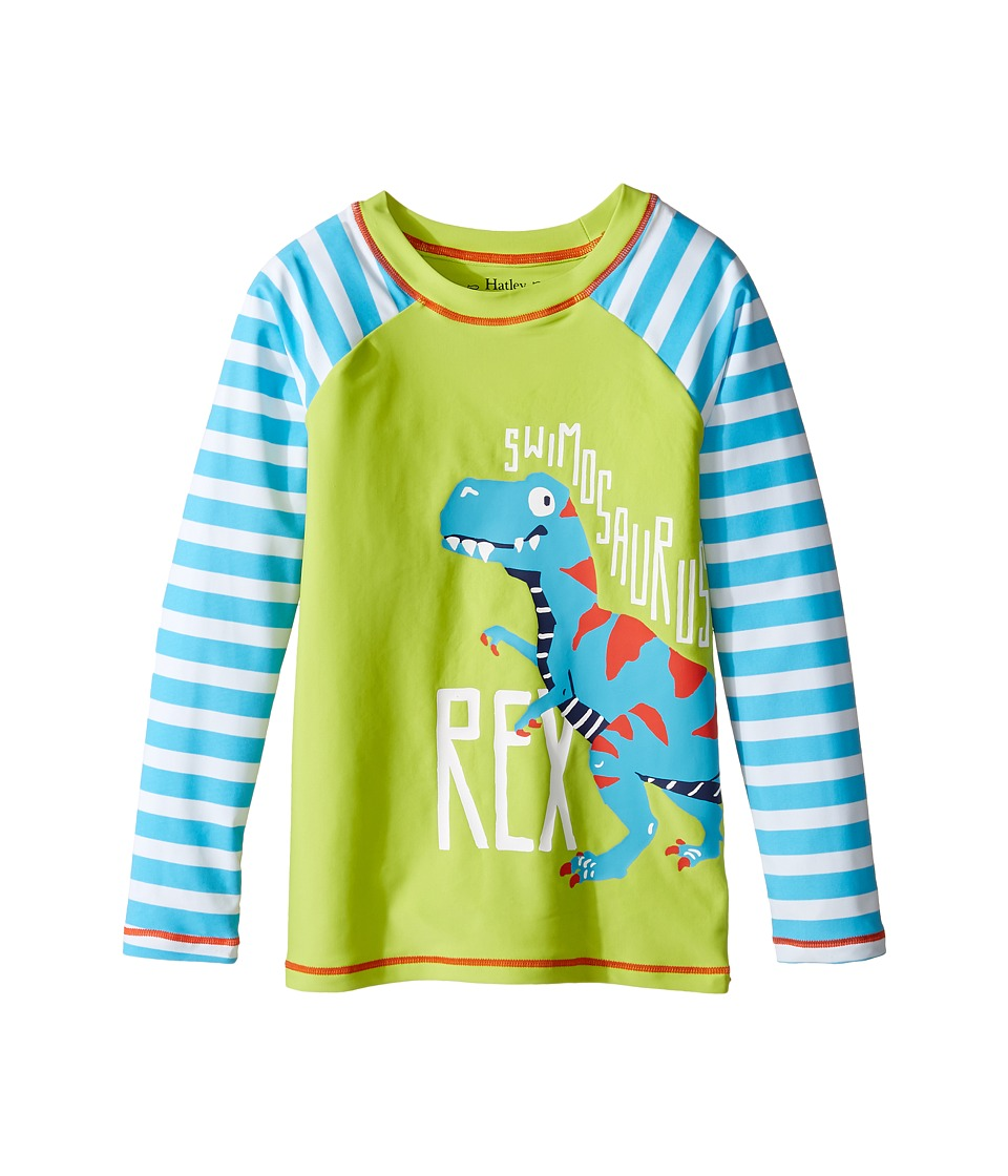 Hatley Kids - Roaring T-Rex Rashguard (Toddler/Little Kids/Big Kids) (Green) Boys Swimwear