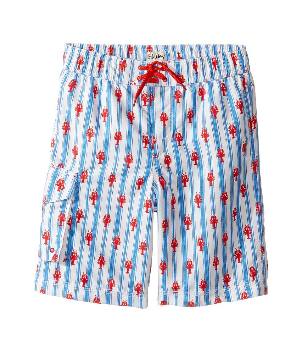 Hatley Kids Lobsters Boardshorts (Toddler/Little Kids/Big Kids) (White) Boy