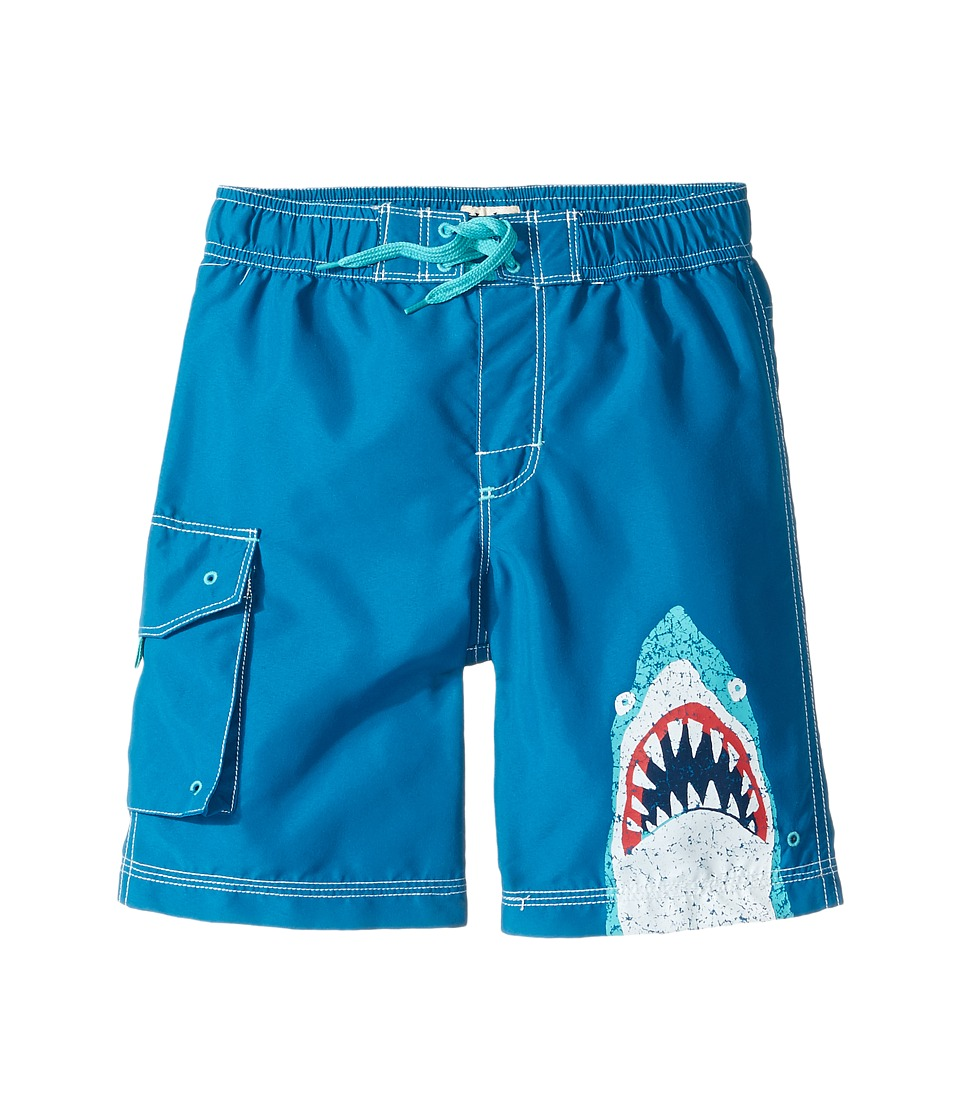 Hatley Kids Toothy Shark Boardshorts (Toddler/Little Kids/Big Kids) (Blue) Boy