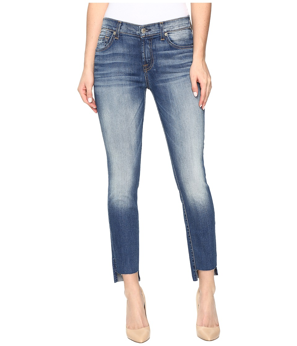 Image of 7 For All Mankind - Ankle Skinny w/ Step Hem in Distressed Authentic Light 3 (Distressed Authentic Light 3) Women's Jeans