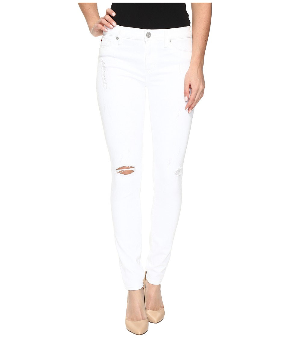 Hudson Nico Mid-Rise Super Skinny in Strife/White Distress (Strife/White Distress) Women