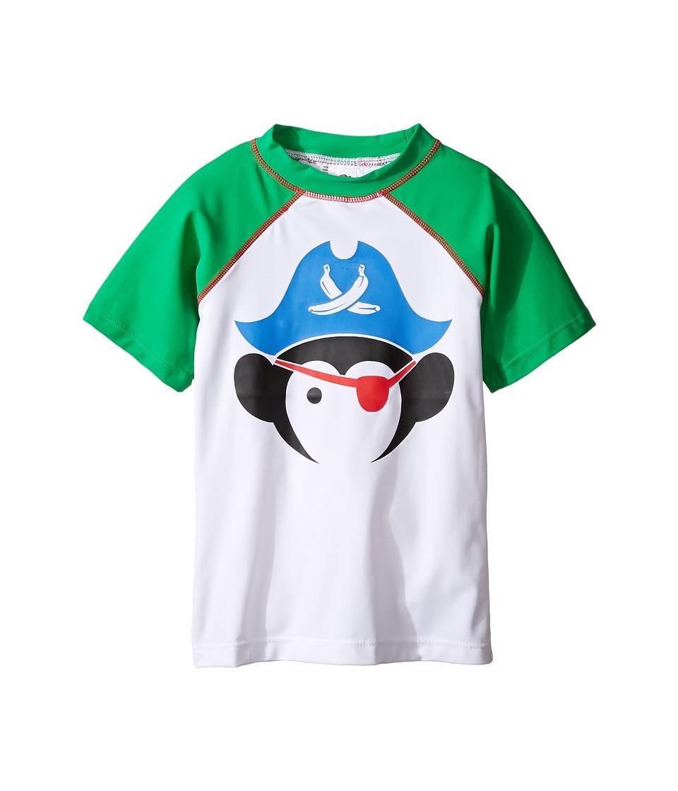 Appaman Kids Short Sleeve Pirate Rashguard w/ SPF 50 Cover-Up (Toddler/Little Kids/Big Kids) (Bright Green) Boy