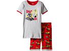 Hatley Kids - Heavy Duty Machines Short Pajama Set (Toddler/Little Kids/Big Kids)