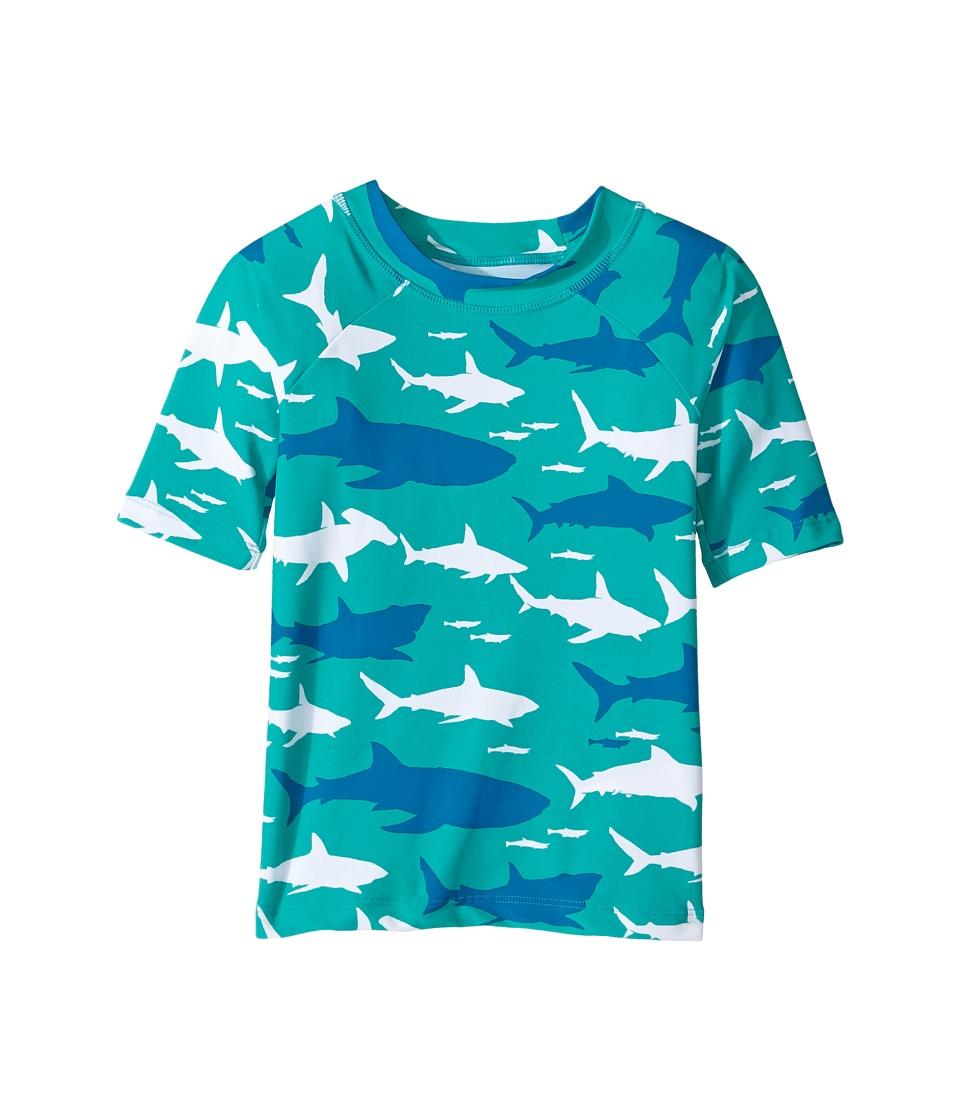 Hatley Kids Toothy Shark Short Sleeve Rashguard (Toddler/Little Kids/Big Kids) (Aqua) Boy