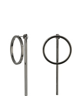 Steve Madden - Front to Back Ring Bar Post Earrings