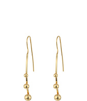 Steve Madden - Fish Hook Bar w/ Three Balls Post Earrings