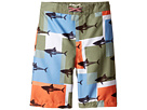 Appaman Kids - Shark Block Pattern Swim Trunks (Toddler/Little Kids/Big Kids)