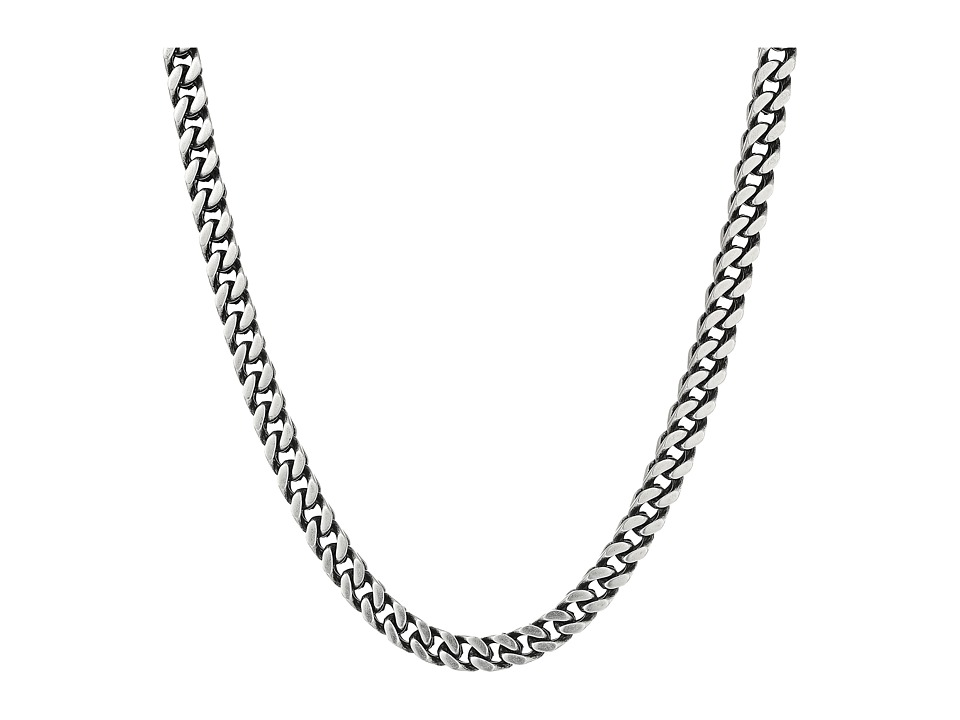 Steve Madden Stainless Steel 26 Curb Chain Necklace (Silv...