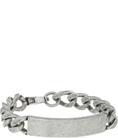 Steve Madden - Stainless Steel ID Plate Curb Chain Bracelet