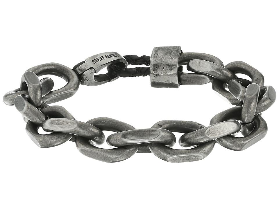 Steve Madden Stainless Steel 8 Facet Rolo Chain Bracelet ...