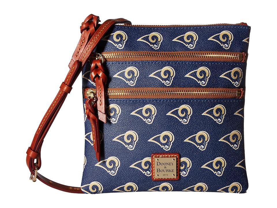 Dooney & Bourke - NFL North/South Triple Zip (Los Angels Rams) Handbags