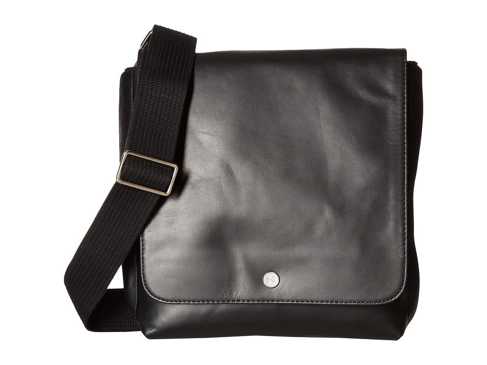 Skagen Gade Leather Small Messenger (Black) Messenger Bags