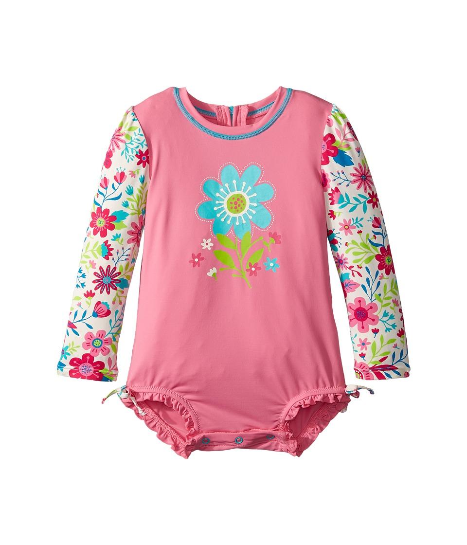Hatley Kids Wallpaper Flowers Rashguard (Infant) (Pink) Girl