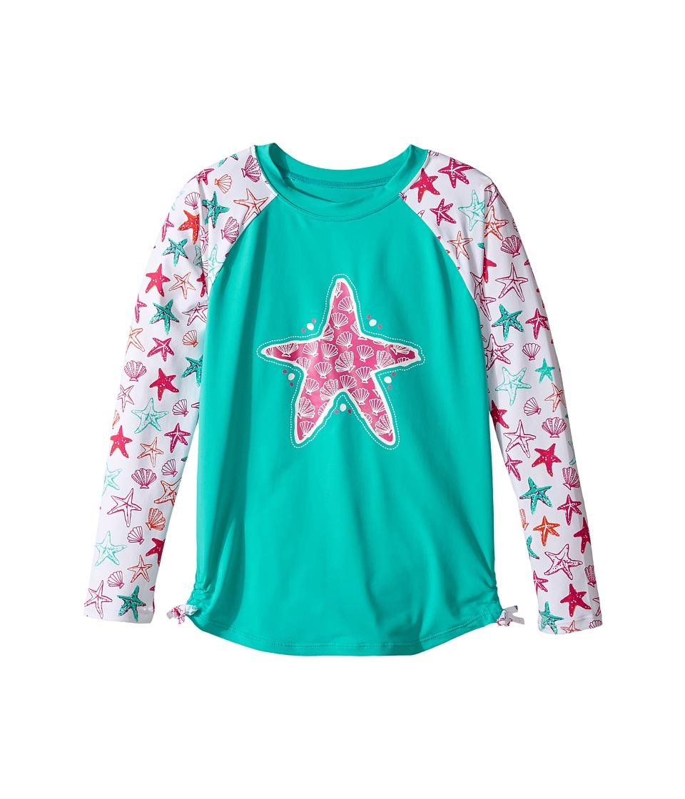 Hatley Kids Star Fish Rashguard (Toddler/Little Kids/Big Kids) (Aqua) Girl