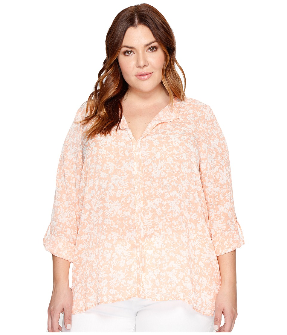 B Collection by Bobeau Curvy - Plus Size Cristy Pleat Back Blouse